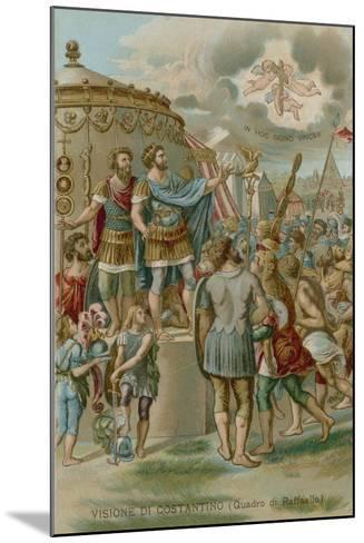 The Vision of Constantine before the Battle of Milvian Bridge, 312--Mounted Giclee Print