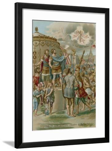 The Vision of Constantine before the Battle of Milvian Bridge, 312--Framed Art Print