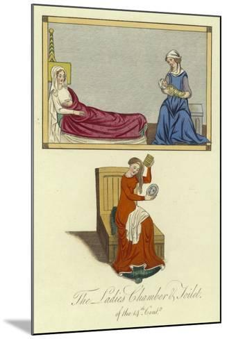 The Ladies Chamber and Toilet of the 14th Century--Mounted Giclee Print