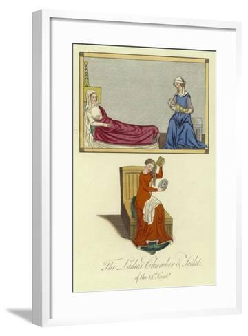 The Ladies Chamber and Toilet of the 14th Century--Framed Art Print