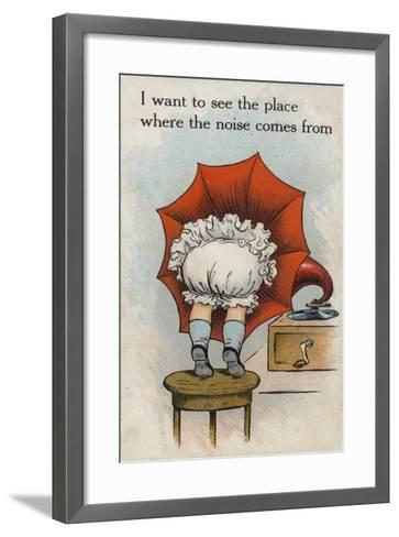 I Want to See the Place Where the Noise Comes From--Framed Art Print