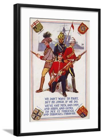 Soldiers of the Armies of Canada, India, Australia and Great Britain--Framed Art Print
