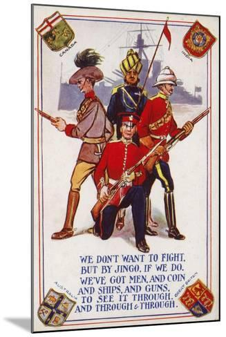 Soldiers of the Armies of Canada, India, Australia and Great Britain--Mounted Giclee Print