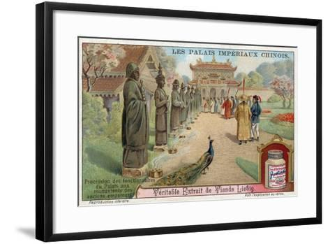 Palace Officials Visiting the Statues of Old Emperors, China--Framed Art Print