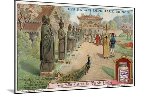 Palace Officials Visiting the Statues of Old Emperors, China--Mounted Giclee Print