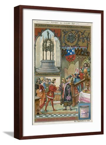 Albrecht Durer Paying a Visit to Quentin Matsys, 1520--Framed Art Print