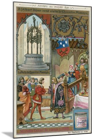 Albrecht Durer Paying a Visit to Quentin Matsys, 1520--Mounted Giclee Print