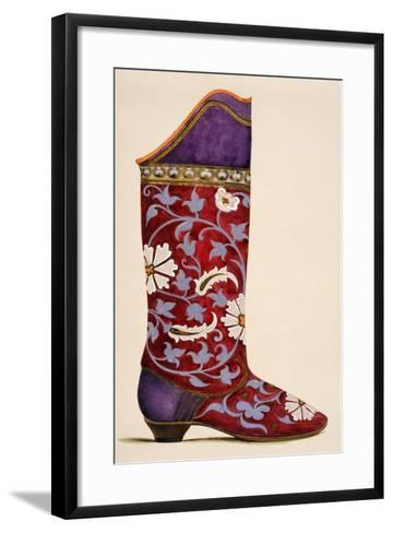 Illustration from a Portfolio of Watercolours of Shoes--Framed Art Print