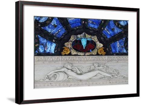 Statue in Marble and Stained Glass, Tettuccio Thermal Baths--Framed Art Print