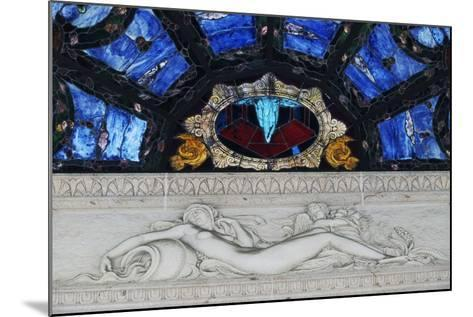 Statue in Marble and Stained Glass, Tettuccio Thermal Baths--Mounted Giclee Print