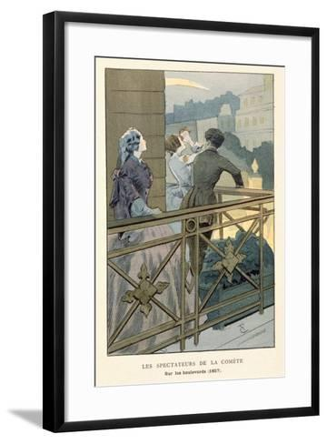 Spectators of the Comet of 1857, Early 20th Century--Framed Art Print