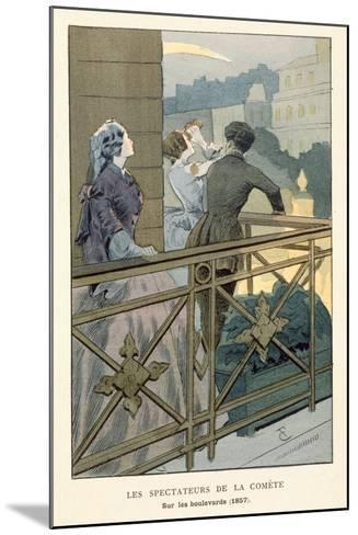 Spectators of the Comet of 1857, Early 20th Century--Mounted Giclee Print