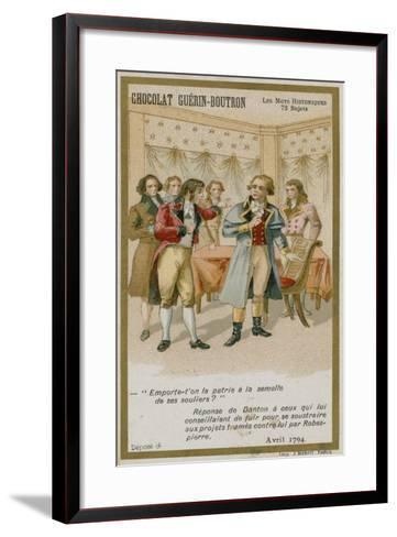 Chocolat Guerin-Boutron Trade Card, Historic Words Series--Framed Art Print