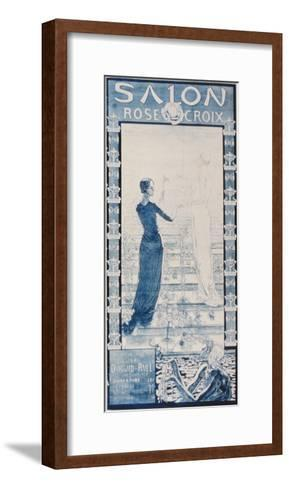 Advertisement for the 'Salon Croix Rose' at the Durand-Ruel Gallery, Paris--Framed Art Print