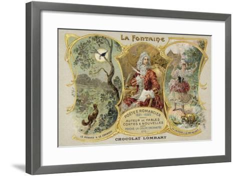 Jean De La Fontaine, French Poet and Writer of Fables--Framed Art Print
