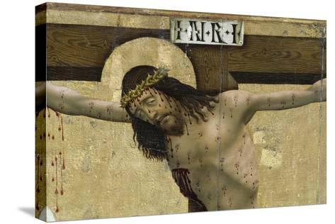 Christ on Cross, Detail from Altarpiece of Prejmer Fortified Church--Stretched Canvas Print