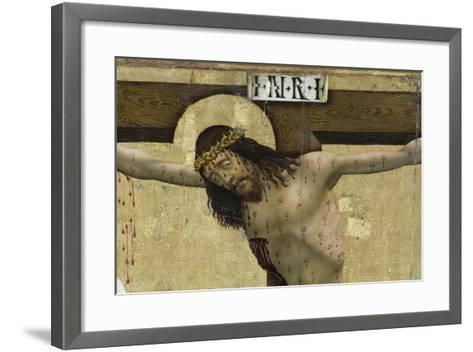 Christ on Cross, Detail from Altarpiece of Prejmer Fortified Church--Framed Art Print