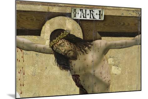 Christ on Cross, Detail from Altarpiece of Prejmer Fortified Church--Mounted Giclee Print