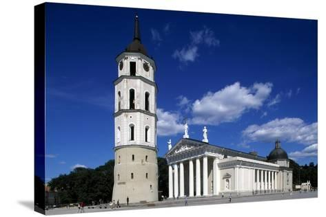 Cathedral of St Stanislaus and Ladislao and Bell Tower--Stretched Canvas Print
