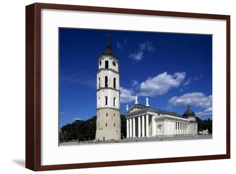 Cathedral of St Stanislaus and Ladislao and Bell Tower--Framed Art Print