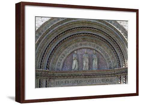 Statues of Patron Saints, Lunette from Main Entrance, Palazzo Dei Priori--Framed Art Print