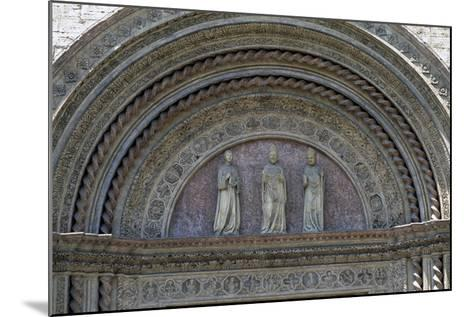 Statues of Patron Saints, Lunette from Main Entrance, Palazzo Dei Priori--Mounted Giclee Print