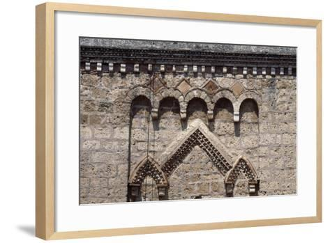 Decorative Detail from Bell-Tower, Monastery of St Scholastica--Framed Art Print