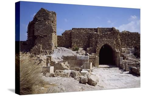 Front Door and Walls of Citadel from the Crusader Period--Stretched Canvas Print