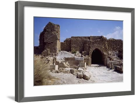 Front Door and Walls of Citadel from the Crusader Period--Framed Art Print