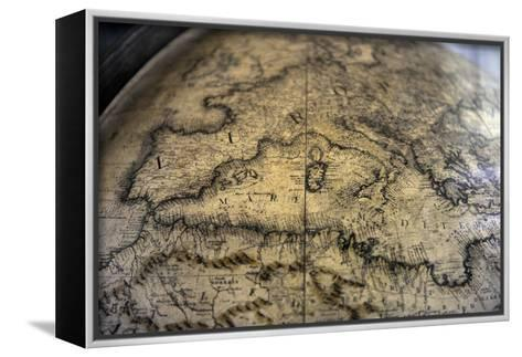 Terrestrial Globe by Cosmographer Vicenzo Coronelli--Framed Canvas Print