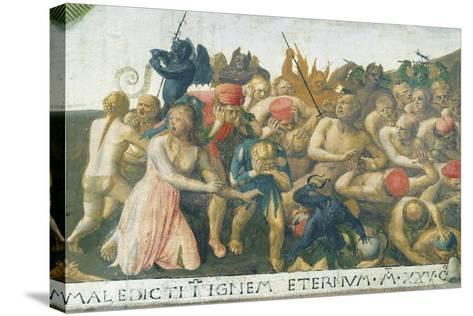 Inset Depicting Last Judgment, Panel from Armadio Degli Argenti--Stretched Canvas Print