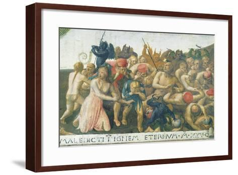 Inset Depicting Last Judgment, Panel from Armadio Degli Argenti--Framed Art Print