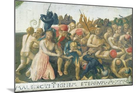 Inset Depicting Last Judgment, Panel from Armadio Degli Argenti--Mounted Giclee Print