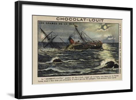 Wreck of the Drummond Castle Off Ushant, France, 16 June 1896--Framed Art Print