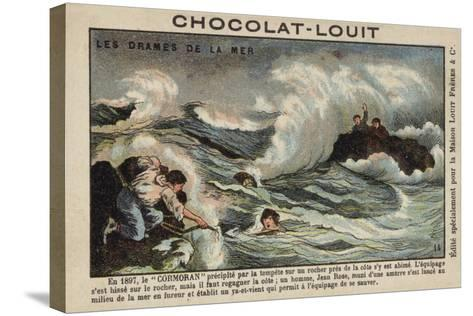 Rescue of Survivors of the Wreck of the Cormoran, 1897--Stretched Canvas Print