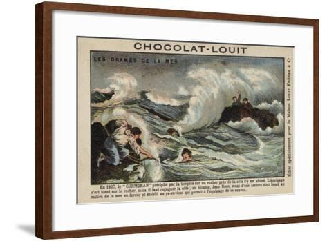 Rescue of Survivors of the Wreck of the Cormoran, 1897--Framed Art Print