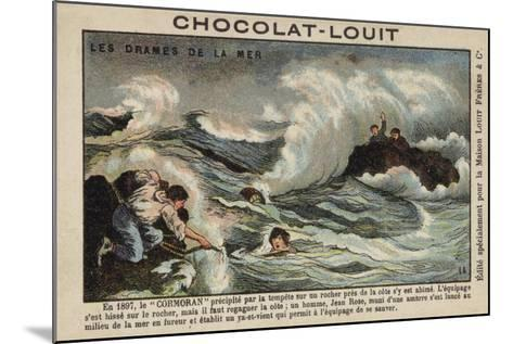 Rescue of Survivors of the Wreck of the Cormoran, 1897--Mounted Giclee Print