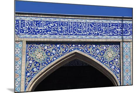 Decorative Elements with Verses from Koran, Shah-E-Cheragh Mausoleum--Mounted Giclee Print