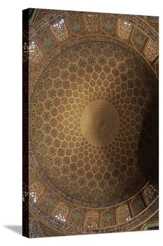 Interior Decoration of Dome of Sheikh Lutfollah Mosque--Stretched Canvas Print