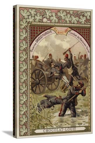 Battle of Karavan-Serai, Greco-Turkish War, April 1897--Stretched Canvas Print