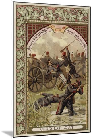 Battle of Karavan-Serai, Greco-Turkish War, April 1897--Mounted Giclee Print