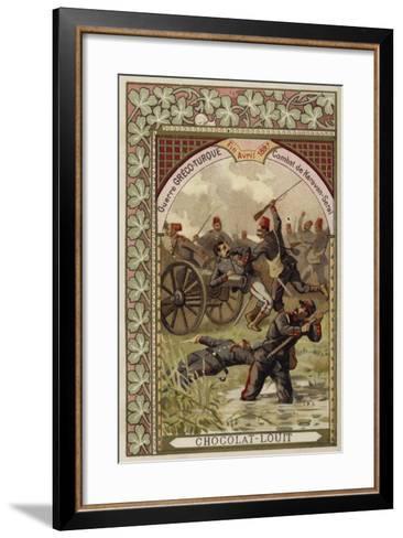 Battle of Karavan-Serai, Greco-Turkish War, April 1897--Framed Art Print