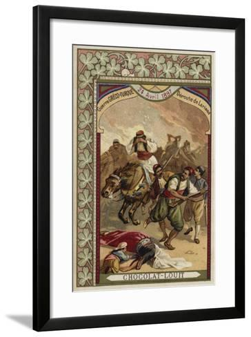 Rout of the Greeks at Larissa, Greco-Turkish War, 24 April 1897--Framed Art Print