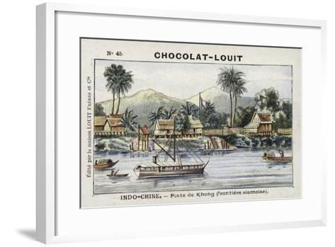 Border Post of Khong on the Siamese Frontier, Indochina--Framed Art Print