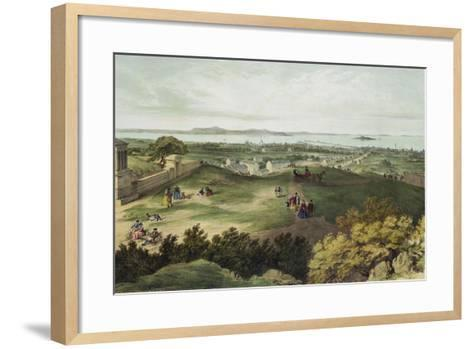 View from Nelson's Monument, Edinburgh, Looking North--Framed Art Print