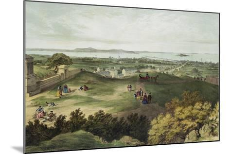 View from Nelson's Monument, Edinburgh, Looking North--Mounted Giclee Print