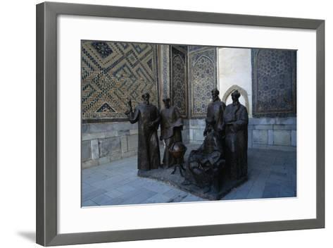 Monument to the Uzbek Scientists, Ulugh Beg Madrasah--Framed Art Print