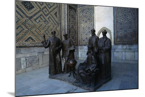 Monument to the Uzbek Scientists, Ulugh Beg Madrasah--Mounted Giclee Print