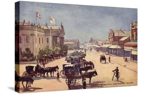 Postcard Depicting the Town Hall and Market Square--Stretched Canvas Print