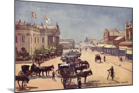 Postcard Depicting the Town Hall and Market Square--Mounted Giclee Print